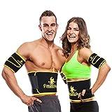 Fittest Pro Waist Trimmer Slimming Flex Sauna Belt - Belly, Fat Loss, Weight Loss Belt - Ab Trainer, Back Brace & Abdominal Support (Medium : 8' W x 41' L - for Waists Up to 38')