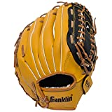 Franklin Sports Baseball and Softball Glove - Field Master - Baseball and Softball Mitt - Adult and Youth Glove - Right Hand Throw - 12', Tan