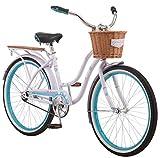 Schwinn Destiny Womens Beach Cruiser Bike, Single Speed, 24-inch Wheels, Purple