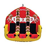 RAVE Sports 02645 #EPIC 3-Rider Towable , red , 78' x 77' x 34'