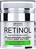 Retinol Moisturizer Cream for Face and Eye Area - Made in USA - with Hyaluronic Acid - Active Retinol 2.5% - Anti Aging Face Cream to Reduce Wrinkles & Fine Lines - Best Day and Night