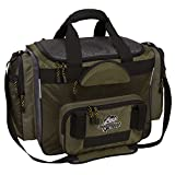 Okeechobee Fats Fisherman Deluxe Tackle Bag, 4 Utility Tackle Boxes, Brown/Green