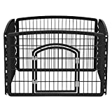 IRIS USA R-CI-604 4-Panel Indoor Pet Pen, Black, 24 x 36 x 36 Inch (Pack of 1)