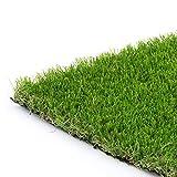Synturfmats 5'x5' Artificial Grass Carpert Rug - Premium Indoor/Outdoor Green Synthetic Turf, 4-Toned Blades