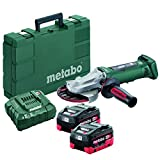 Metabo 18V 5' Flat Head Angle Grinder 6.2Ah Kit