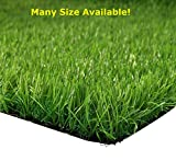 Synturfmats Artificial Grass for Dog, Indoor/Outdoor Green 5'x10' Decorative Synthetic Turf Runner Rugs with Drainage Holes
