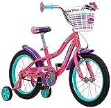 Schwinn Jasmine Kids Bicycle 16' wheel size, age 4 to 7 with training wheels, girl's purple