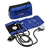 PARAMED Aneroid Sphygmomanometer with Stethoscope – Manual Blood Pressure Cuff with Universal Cuff 8.7 - 16.5' and D-Ring – Carrying Case in The kit – Blue