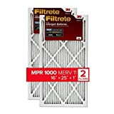 Filtrete MPR 1000 16x25x1 AC Furnace Air Filter, Micro Allergen Defense, 2-Pack