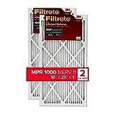 Filtrete 16x25x1, AC Furnace Air Filter, MPR 1000, Micro Allergen Defense, 2-Pack (exact dimensions 15.719 x 24.72 x 0.84)