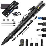 Moikin 10 in 1 Tactical Pen for Self Defense Survival Multitool, LED Flashlight, Ballpoint, Screw Driver, Bottle Opener, Glass Breaker with a Multi Tool Card EDC for Men