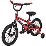 Goplus 16' Kids Bike Bicycle, Boy's Bike and Girl's Bike w/Training Wheels, Toddler Ride, Gifts for Children (Red)