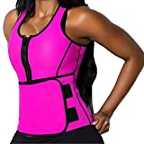 DODOING Zipper Waist Trimmer Trainer Belt Women Shapewear Weight Loss Neoprene Sauna Tank Top Vest Body Shaper Slimming Fajas