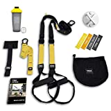 TRX All In One Home Gym Bundle: Includes All-In-One Suspension Trainer, Indoor & Outdoor Anchors, TRX XMount Wall Anchor, 4 Exercise Bands & Shaker Bottle