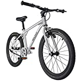 BELSIZE 20-Inch Belt-Drive Kid's Bike, Lightweight Aluminium Alloy Bicycle (only 14.82 lbs) for 7-10 Years Old, Silver