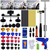 AUTOPDR Dent Repair Tools ,2 in 1 T-Puller (Big Dent) Paintless Dent Repair Kits 69pcs Dent Repair Tool - Dent Repair kit with Bridge Dent Puller (Small-Middle Dent)for Car Body Hail Dent Removal Dent