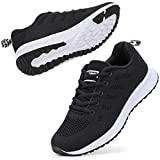 STQ Women's Athletic Walking Shoes Lightweight Gym Mesh Comfortable Trail Athletic Running Shoes(A08hei39) Black