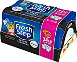 Fresh Step Extreme Scented Litter with the Power of Febreze, Clumping Cat Litter Mountain Spring, 34 Pounds