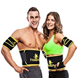 Fittest Pro Waist Trimmer Slimming Flex Sauna Belt - Belly, Fat Loss, Weight Loss Belt - Ab Trainer, Back Brace & Abdominal Support (Medium : 8' W x 41' L - for Waists Up to 38')