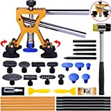 Manelord Auto Body Dent Repair Kit, Car Dent Puller with Golden Dent Puller for Auto Body Dent Removal, Minor Dent and Deep Dent Removal
