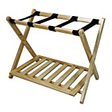 Casual Home Luggage Rack with Shelf, Natural