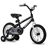 JOYSTAR 16 Inch Kids Bike with Training Wheels for 4 5 6 Years Old Boys, Toddler Cycle for Early Rider, Child Pedal Bike, Blue