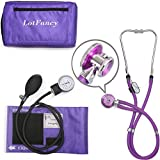 """LotFancy Adult Dulex Aneroid Sphygmomanometer with Stethoscope, Professional Manual Blood Pressure Cuff, Blood Pressure and Stethoscope Kit, Universal Sized Cuff (10'-16""""), Zipper Case Included"""