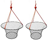 2 Pack of KUFA Sports Vinyl Coated Steel Ring Crab Trap (Size:ø30) with 50' Rope CT90x2 (Large)