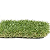 PZG Premium Artificial Grass Patch w/ Drainage Holes & Rubber Backing | 4-Tone Realistic Synthetic Grass Mat | 1.6-inch Blade Height | Lead-Free Fake Grass for Dogs or Outdoor Decor | Size: 40' x 28'