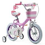 Royalbaby Girls Bike Bunny 16 Inch Girl's Bicycle With Training Wheels Kickstand Basket Child's Girl's Bike Pink