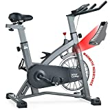 MEVEM Indoor Cycling Bike-Belt Drive Indoor Magnetic Exercise Bike,Indoor Stationary Bike for Home Cardio Gym Workout (Gray)