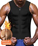 Eleady Men's Sauna Sweat Vest Weight Loss Waist Trainer (Black Sauna Tank Top Men, M)