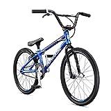 Mongoose Title Expert BMX Race Bike, 20-Inch Wheels, Beginner to Intermediate Riders, Lightweight Aluminum Frame, Internal Cable Routing, Blue