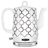 BELLA (14522) 1.2 Liter Electric Tea Kettle, Silver Tile