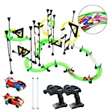 LEDshope RC Car Race Track Set - Slot Car Track Set with 2 Remote Control Cars and 19 ft. of Flexible Building Tracks for Boys or Girls, Fun Racing Set for Kids