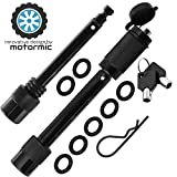 """motormic Trailer Hitch Lock Pin Set - 5/8' and 1/2' Extra Long Black Pins with One Locking System - 1 Safety Clip, 10 Anti Rattle O-Rings – Tow receivers 1.25"""", 2"""" and 2.5 inch (Class I,II,III,IV,V)"""