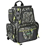 SeaKnight Waterproof Outdoor Tackle Bag Multi-Tackle Large Backpack Double Shoulder Fishing Tackle Multifunctional Bags for Camping Hiking Cycling (Green-25L with Four Trays)