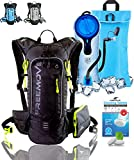 Hydration Pack Backpack - Water Stays Cool 5 Hours with 2L Hydration Bladder and Cooler Bag   Fully Adjustable, Multiple Pockets   10L Overall Storage Capacity   Hiking, Running, Cycling, MTB