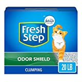 Fresh Step Odor Shield Scented Litter with the Power of Febreze, Clumping Cat Litter, 20 Pounds (Package May Vary)