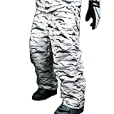myglory77mall Mens Winter Warm Waterproof Hip Ski Snowboard Military Camo Pants S07 US M