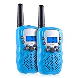 Kearui Kids Walkie Talkies, 22 Channel 2 Way Radio 3 Miles Handheld Mini Walkie Talkies, Best Toys Gifts for 3-12 Year Old Boys and Girls (1 Pair, Blue)