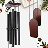 48' Large Wind Chimes Outdoor Sympathy Wind Chime with 5 Heavy Aluminum Tubes Tuned Soothing Melody, Memorial Wind Chimes for Outside Decoration (Patio, Garden, Yard)