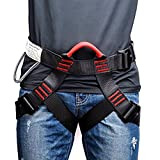 Weanas Thicken Climbing Harness, Protect Waist Safety Harness, Wider Half Body Harness for Mountaineering/Fire Rescuing/Rock Climbing/Rappelling/Tree Climbing