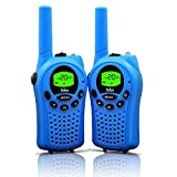 Walkie Talkies for Kids, 22 Channel Walkie Talkies 2 Way Radio 3 Miles (Up to 5Miles) FRS/GMRS Handheld Mini Walkie Talkies for Kids (Pair) (Blue)