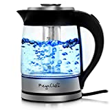 Megachef Electric Stainless Steel Light Up Wired Tea Kettle, 1.8L, Model 2