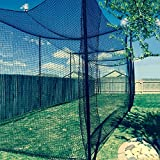 Gourock 12' High X 12' Wide X 55' Long Batting Cage Net, 36 Polypro Netting, Rope Bordered with Door