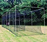 Jones Sports Batting Cage Net 10' x 12' x 60' #42 HDPE (60PLY) with Door Heavy Duty Baseball