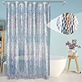 Eforcurtain Small Wide 54'x72' Inch 3D Semi-Transparent Shower Curtain Liner with 3 Magnets Coloful EVA Bathroom Curtain Waterproof for Kids
