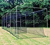 Jones Sports Batting Cage Net 10' H x 12' W x 30' L #42 HDPE (60PLY) with Door Heavy Duty Baseball