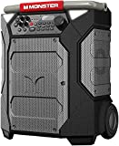 Monster Rockin' Roller 270 Portable Indoor/Outdoor Wireless Speaker, 200 Watts, Up to 100 Hours Playtime, IPX4 Water Resistant, Qi Charger, Connect to Another TWS Speaker